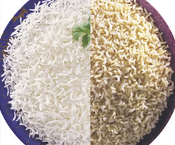 White Rice and Whole Grain Rice