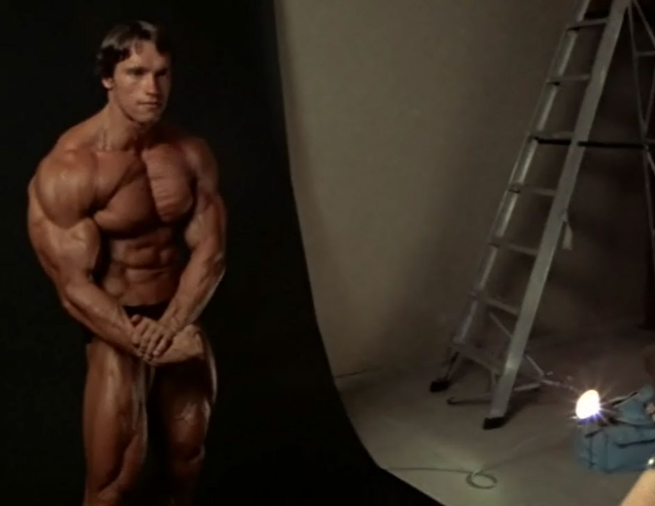 Arnie Photoshoot Side Chest Pose