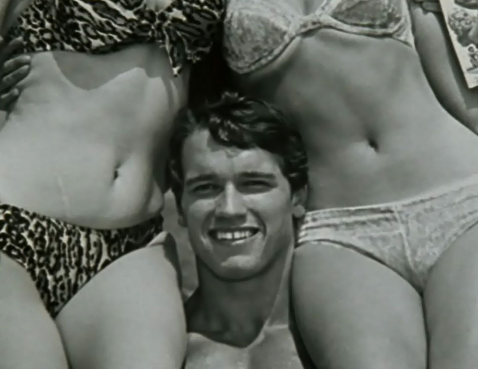 Arnie with Women on His Shoulders