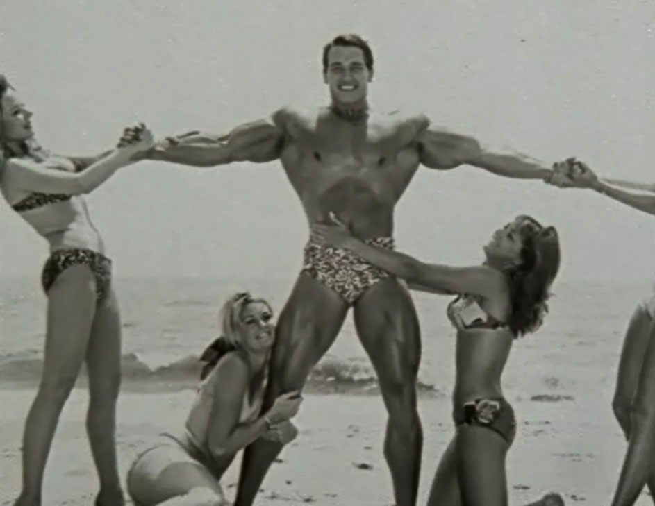 Arnie with Women on the Beach