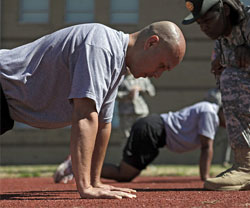 APFT Soldier Doing Pushups