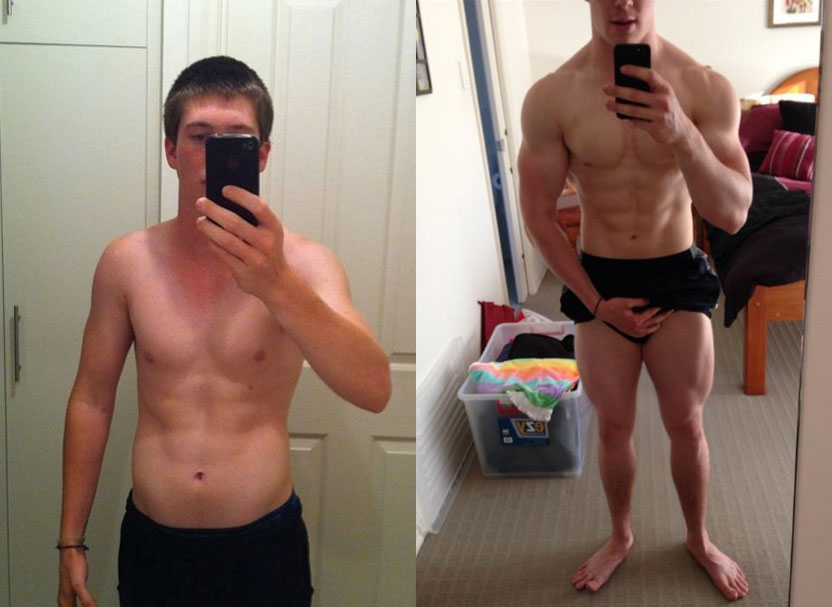 How to Get Ripped - Before and After