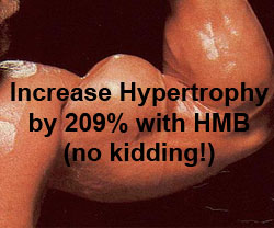 Increase Hypertrophy by 209% with HMB