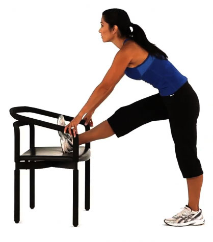 Static Hamstring Stretch with a Chair