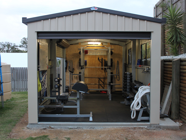Backyard Shed Gym
