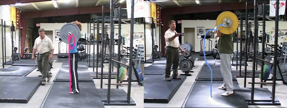 Power Clean Bar Path