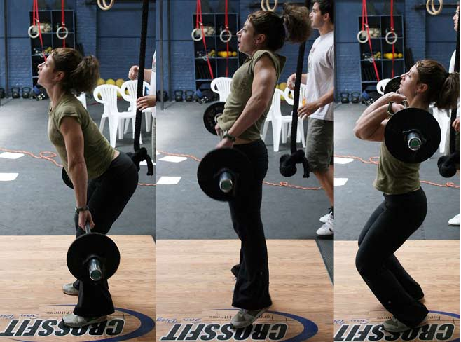 Woman Doing Power Cleans