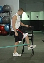Hip Flexor Resistance Band Exercise